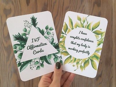 IVF affirmation cards x12 encouragement fertility journey infertility baby (a2)