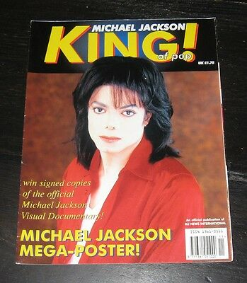 Michael Jackson magazine POSTER booklet 1995 King of Pop official Q&A photos