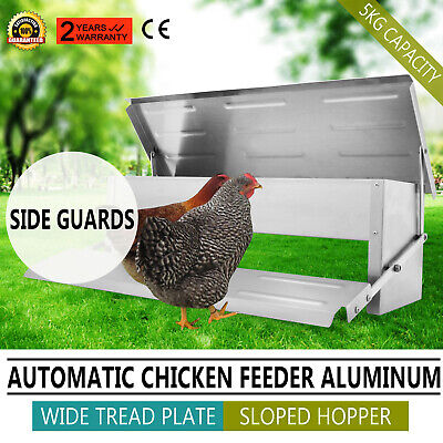Automatic Aluminum Chicken Feeder Chook Poultry Quality Certification Pro