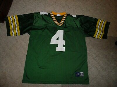 125d6956 MENS VINTAGE REEBOK Green Bay Packers Brett Favre Football Jersey ...