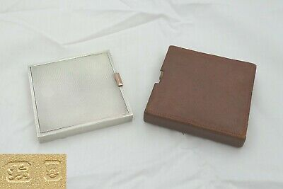 Rare George V Hm Sterling Silver & Gold Button Compact