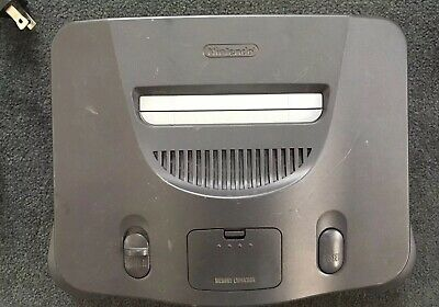 Nintendo 64 Launch Edition Charcoal Grey Console (NTSC) with 1 used Controller.