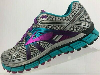 85fe45506a4e7 Brooks Adrenaline GTS 17 Road Running Shoes Gray Purple Training Womens US  7 D