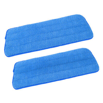 2 Set Microfiber Mop Pads Flat Mop Accessories Home Cleaning Supplies Blue