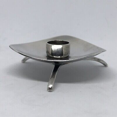 Cohr Sterling Candle Holder, Carl M. Cohr. Silver. MADE IN DENMARK. VERY RARE