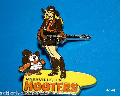 Hooters Restaurant Girl Hootie Country Singer Guitar Nashville Tennessee Tn Pin