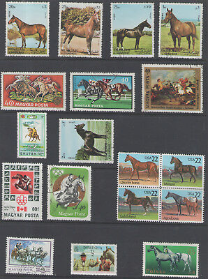 Stamps  Horses  18Pc Lot