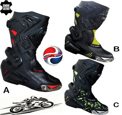 Mens High Tech Armour Range Motorbike Motorcycle Long Racing Boots Sports Shoes