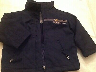 Rip curl boys coat Navy velour lining inner elastic aged cuffs age 3-4 spring