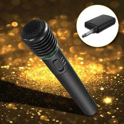2in1 Handheld Wired Wireless Cordless Microphone Mic Studio System Karaoke