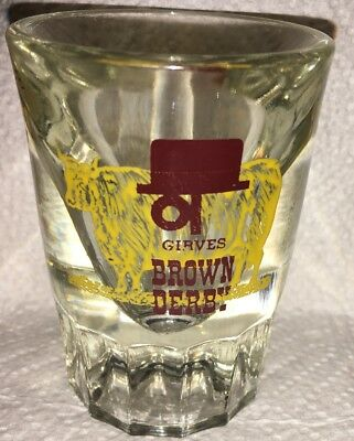 Rare Vintage Gerves Brown Derby Heavy Shot Glass Certainly Not A Single Shot