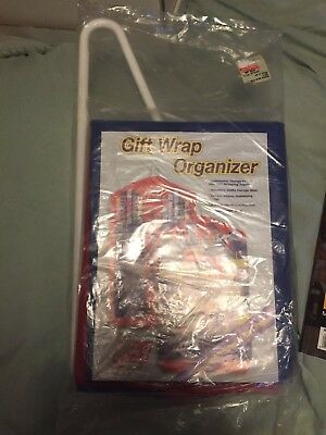 WRAP PACK Hanging Gift Wrap Organizer Craft Storage Paper Ribbons Bags.