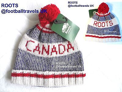 ROOTS CANADA LAMBSWOOL POMPOM TOQUE Beanie Hat UNISEX NEW Tag WINTER WARM
