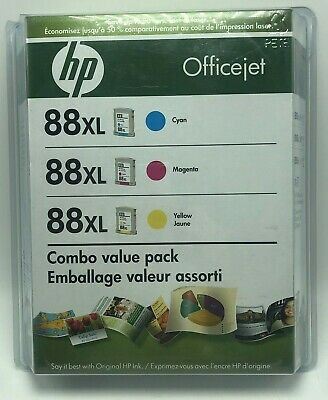 HP Officejet 88xl Combo Value Pack 3 Ink Cartridges Cyan Magenta Yellow