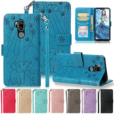 FOR LG STYLO 4 Phone Magnetic Case Leather Card Pocket Strap