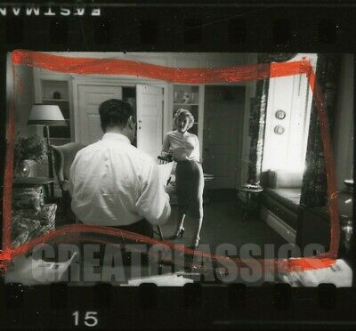 MARILYN MONROE w/ PRODUCER JERRY WALD 1951 SEXY VINTAGE CONTACT SHEET PHOTOGRAPH