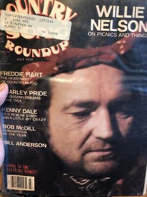 Country Song Roundup July 1978 Willie Nelson Magazine