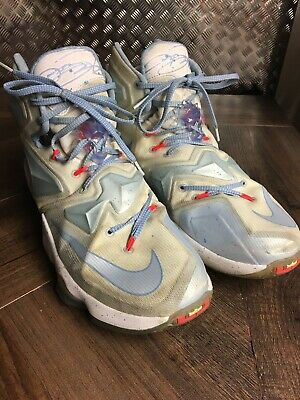 new product 355dc d7f9e Nike Lebron 13 Summit White, Blue Tint Christmas Basketball Shoes Size 11  Mens