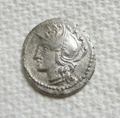 Ancient Coin Roman Republic L. Apuleius Saturninus AR Denarius 104 BC