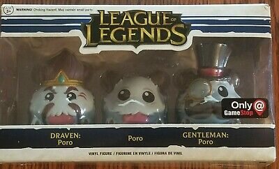 Funko League of Legends (Draven Poro, Poro & Gentlemen Poro) Gamestop Exclusive