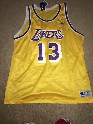 30a2f60d53e Los Angeles Lakers Wilt Chamberlain  13 Replica Gold Champion Jersey Gold  Logo