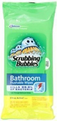Scrubbing Bubbles Flushable Bathroom Wipes one pack only