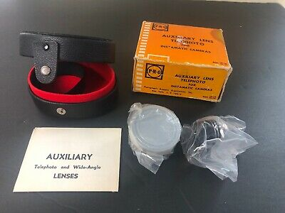PRO Auxiliary Telephoto And Wide Angle Lenses Instamatic Cameras Nos