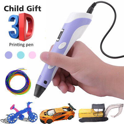 3D Printing Pen Crafting Doodle Drawing Art Printer Modeling ABS Xmas Kids Gift