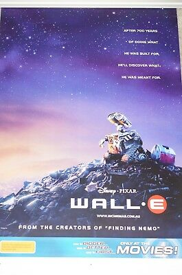 Wall-E Movie Poster Double Sided Australia Version 27x40 New