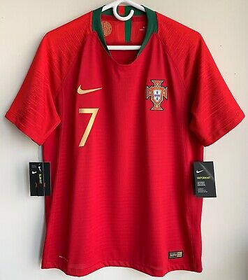 f59e04d3a58 Authentic 2018 World Cup Nike Portugal Cristiano Ronaldo Vaporknit Match  Jersey