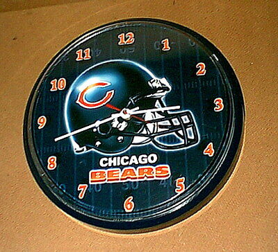 Vintage CHICAGO BEARS NFL Football WALL CLOCK - very nice