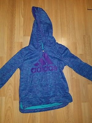 Adidas Zip Up Hoodie Girls Kids Size 2T