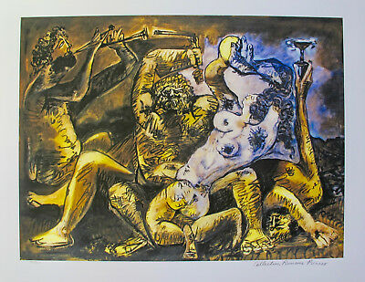 """Pablo Picasso BACCHANAL Estate Signed & Stamped Limited Edition Giclee 20"""" x 26"""""""