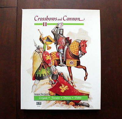 Crossbows and Cannon II quad war game by Rob Markham 1993 3W punched complete