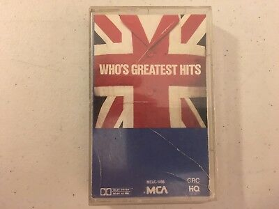 The Who Who's Greatest Hits MCA CRC Tape Cassette Album