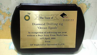 Nautical Vintage ''Diamond Drilling Rig Ocean Epoch '' Eccentric Shield S078