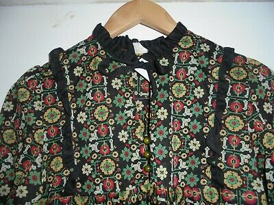 70's Style smock dress XS-S Made in France