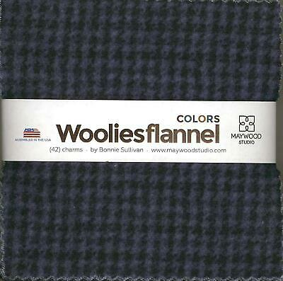 Woolies Flannel Colors - Bonnie Sullivan; 42 5-inch Squares - Maywood Studio