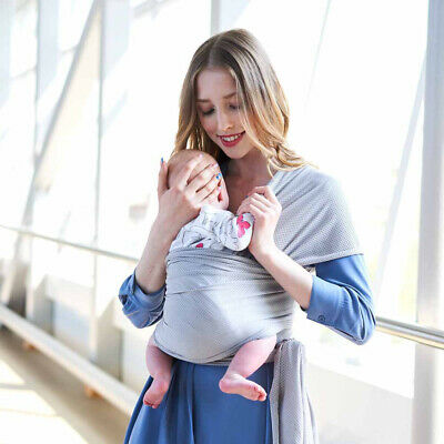 Neugeborenen Baby Stretchy Wrap Sling Breathable Carrier Cross-Over Tragetuch