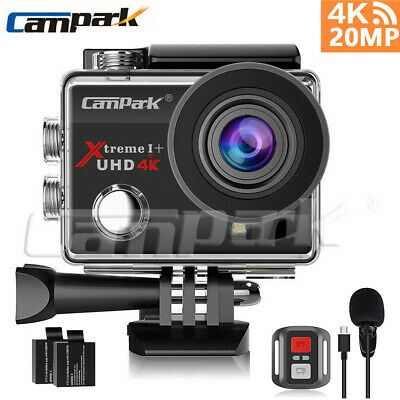 Campark ACT74 Action Camera 4K HD 16MP Waterproof Sports Cam 170° 30M Underwater