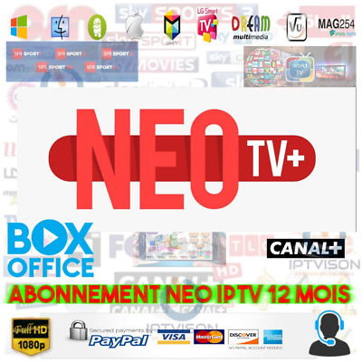 neo pro2 12mois abonnement 7000chaine m3u full hd mag vlc android box vod.