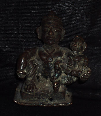 "Antique Traditional Indian Ritual Bronze God ""Ram And Sita""Rare #2"