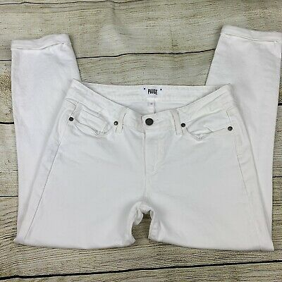 20fdba07682 PAIGE JEANS KYLIE crop Ankle jean skinny stretch optic white size 27 ...