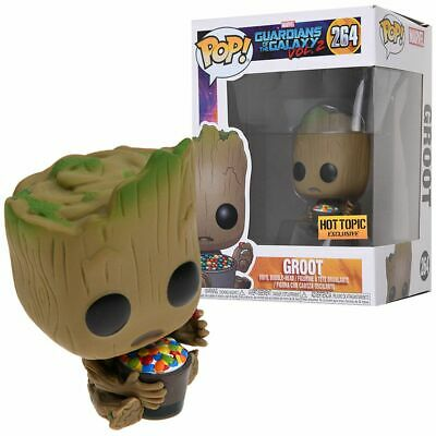 FUNKO POP Guardians of the Galaxy Vol 2 #264 Groot with Candy Bowl 10cm figurine