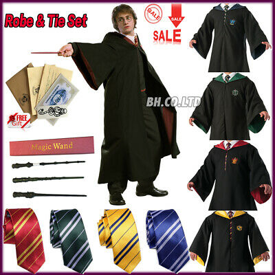 Harry Potter adulte enfants Robe Cape Costume Chapeau Cravate écharpe cosplay FR