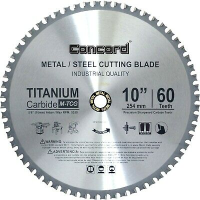 "Concord Blades MCB1000T060HP 10"" 60 Teeth TCT Ferrous Metal Cutting Blade NEW"