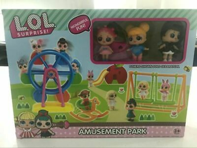 3PCS DOL LOL Surprise Doll Park house windmill Game Baby Girls Kids Gift Toy