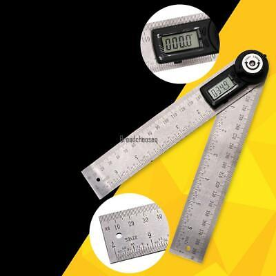 LCD Display Digital Angle Finder Stainless Steel Protractor Angle Ruler BRCE