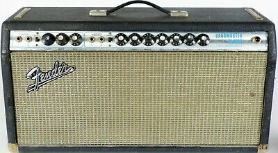 1971 fender bandmaster reverb amplifier silverface guitar tube amp tfl-5005  d