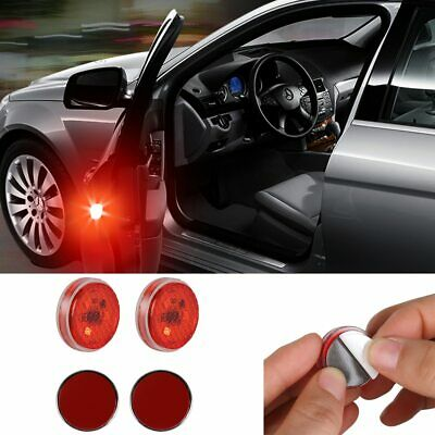 2PC Universal Wireless Anti-collid Light Car Door Opening Warning LED Lamp Red